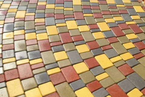 Тротуарная плитка для цветного бетона