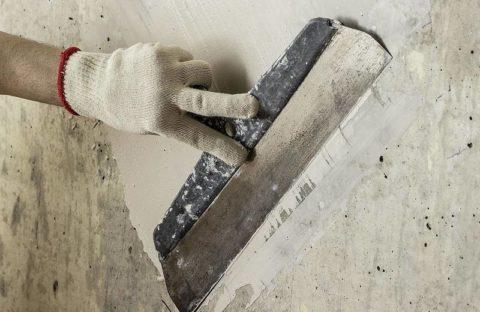 Устранение дефектов бетонной поверхности