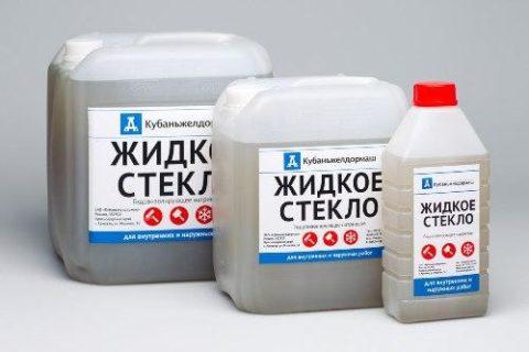 Жидкое стекло для приготовления пластификатора