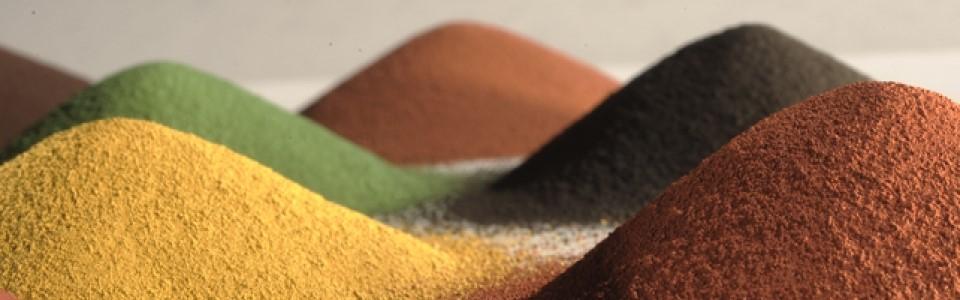 В продаже имеются различные красящие пигменты для мраморного бетона