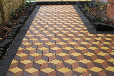 Декоративная цветная бетонная плитка