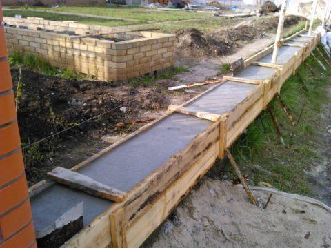 Фундамент под забор, ленточный