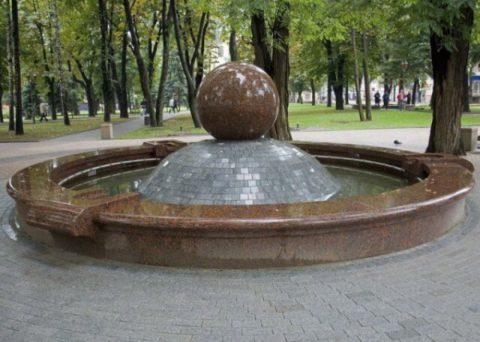 Искусственный мрамор используется для создания парковых малых архитектурных форм