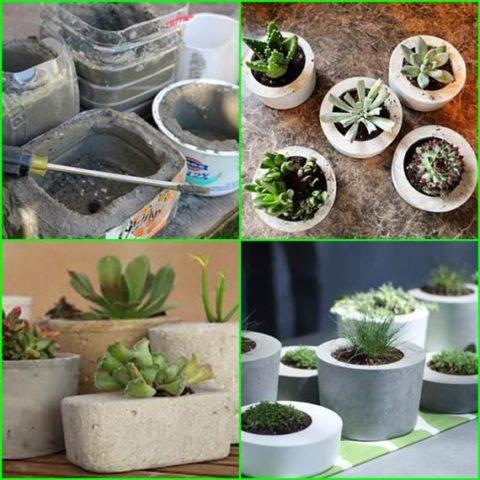 Использование пластиковых емкостей для изготовления ваз из бетона