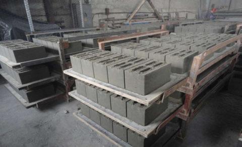 Как сушить керамзитобетонные блоки?