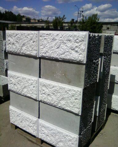 Керамзитобетонный блок с облицовкой