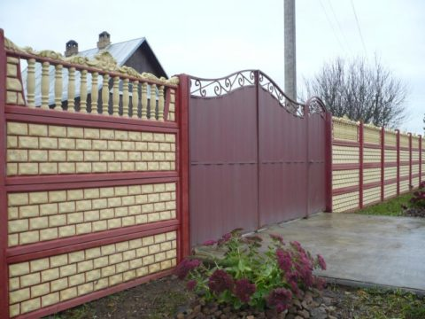 Наборный забор