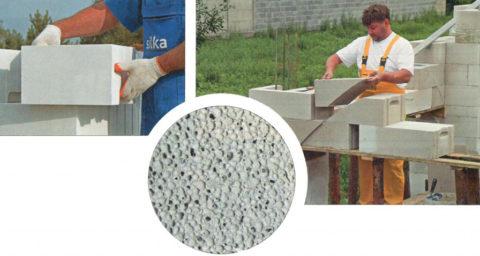 Пористая структура газобетонных блоков