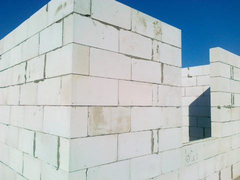 Применение конструкционно-теплоизоляционных блоков