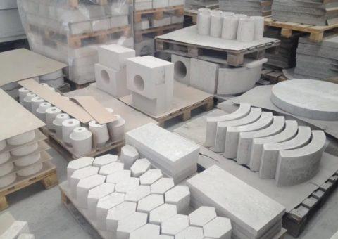 Разнообразные изделия из бетона на гипсовом вяжущем