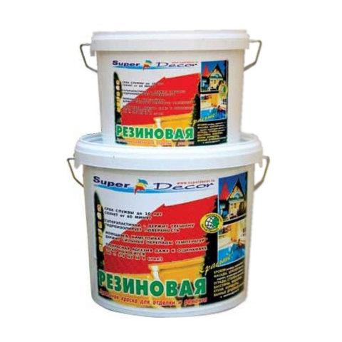Резиновая краска для бетонных полов в таре разного объема