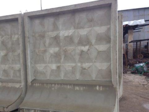 Самостоящий забор бетонный алмазная грань