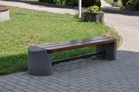 Скамейка бетонная без спинки