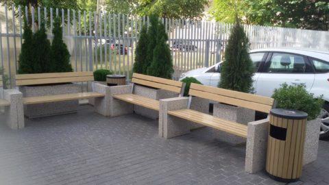 Скамейки парковые бетонные