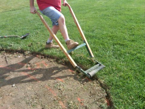 Снятие верхнего слоя почвы