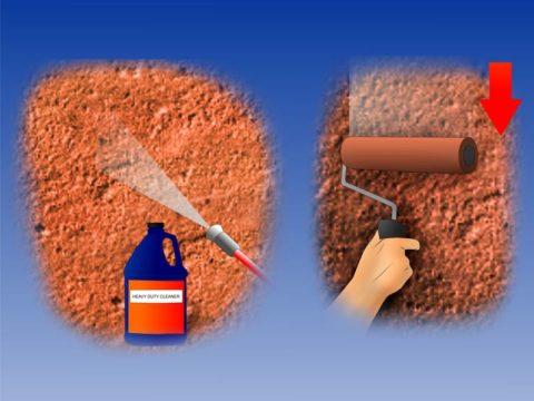 Способ окрашивания бетонной стены