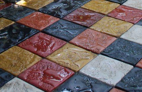 Цветная бетонная плитка