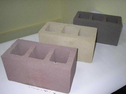 Цветные бетонные блоки