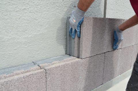 Утепление стены легким теплоизоляционным бетоном