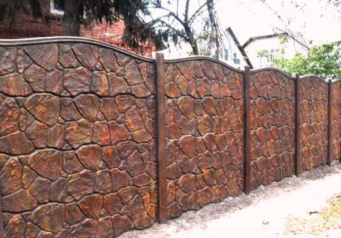 Забор бетонный из сборных элементов