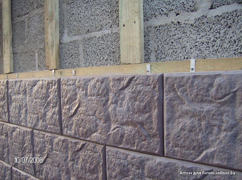 Монтаж фасадной отделки на деревянные направляющие сухим способом