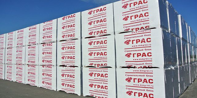 Блоки из ячеистого бетона Грас