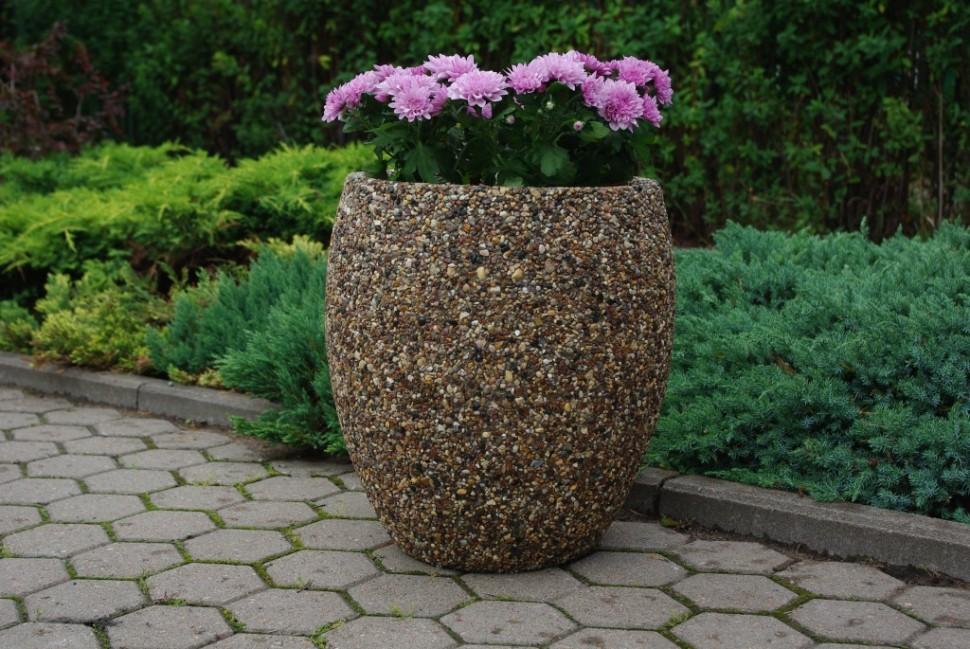 Вазоны из камней своими руками для сада