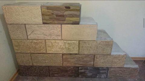 Блок из ячеистого бетона с облицовкой