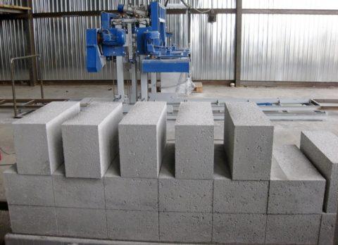 Блоки пенобетонные на производстве