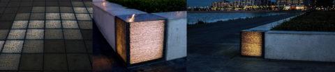 Элементы МАФ из прозрачного бетона