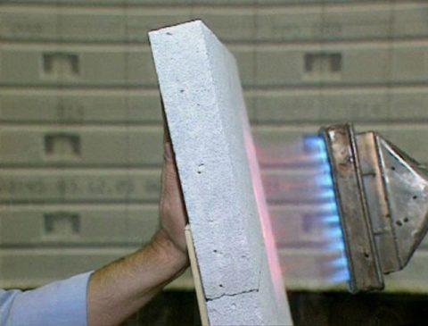 Горит ли ячеистый бетон?