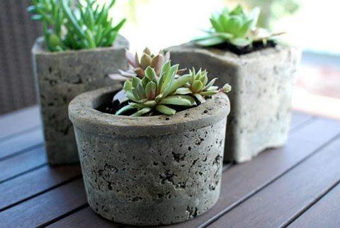 Как сделать листья из цемента для сада