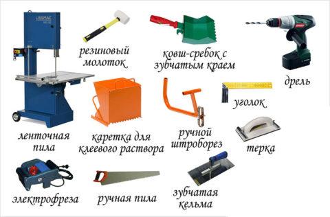 Инструмент для кладки блока