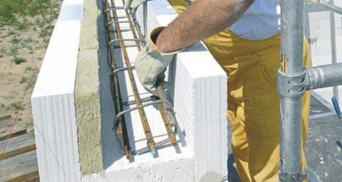Изготовление перемычки на строительной площадке
