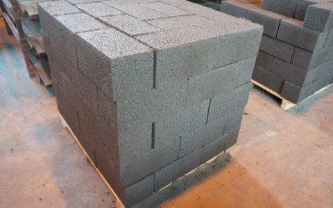 Керамзитоблок стеновой полнотелый стандартного размера