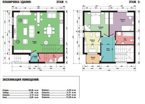 Комфортная планировка двухэтажного дома