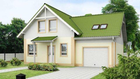 Компактный домик с мансардой и гаражом