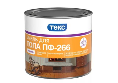 Красно коричневая краска эмаль для бетонных полов Текс на алкидной основе