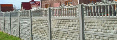 Наборные заборы для дачи из бетона