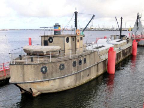 Небольшой бетонный корабль