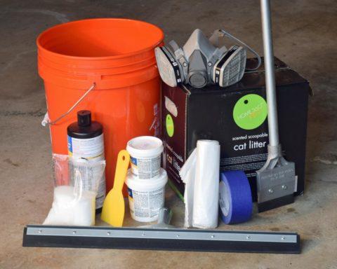 Необходимый набор для покрытия бетонного пола эпоксидной смолой