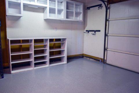 Обновленные бетонный пол в гараже