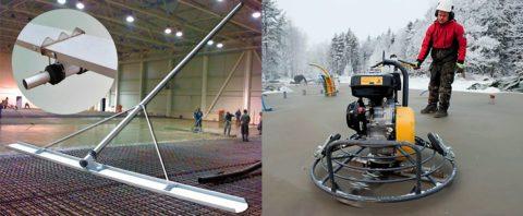Оборудование для заглаживания бетона