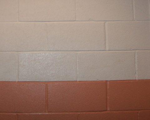 Окрашенная газобетонная стена