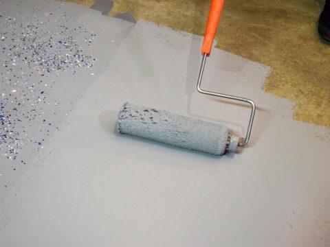 Окрашивание и декорирование бетонного пола