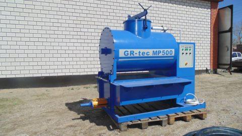 Переносная установка для изготовления пенобетона со шнековой передачей