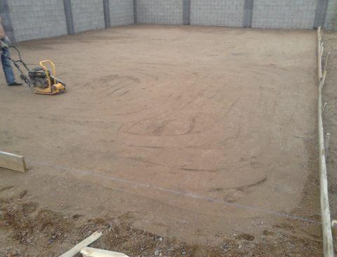 Подстилающий слой из щебеночно-песчаной смеси