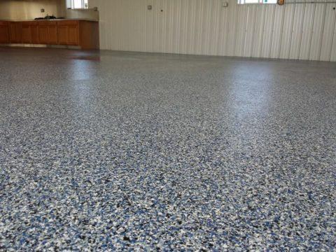 Полиаспариновое покрытие на обычном бетонном шлифованном полу
