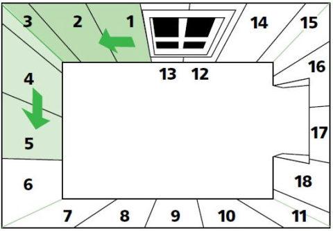 Последовательность наклеивания обойных листов