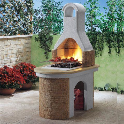 Садовая печь из сборного жаростойкого бетона